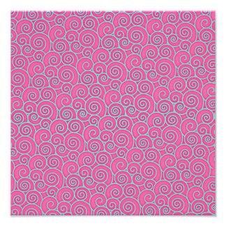 Abrégé sur tourbillonnant à la mode rose en pastel art photographique