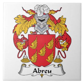 Abreu Family Crest Tile