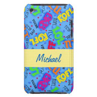 Abréviations bleues de symboles d'art des textes coque Case-Mate iPod touch