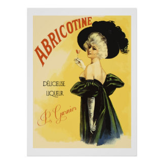 Abricotine (Restored vintage french Liquor Ads) Poster