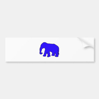 Abruti en ivoire de défenses de silhouette autocollant de voiture