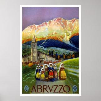 Abruzzo Italy Vintage Travel Poster