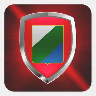Abruzzo Mettalic Emblem Square Sticker