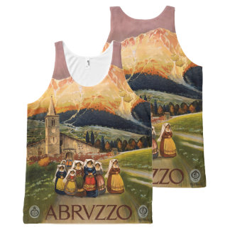 Abrvzzo Italy Vintage Travel Poster tank top