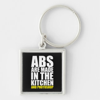 Abs Are Made In The Kitchen And Photoshop - Funny Keychain