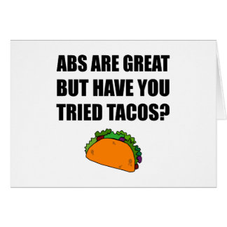 ABS Great Tried Tacos Card