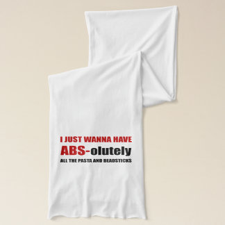 ABS Pasta Breadsticks Scarf