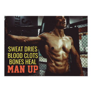 Abs Workout Motivational Gym Poster