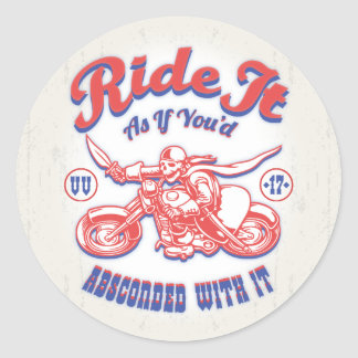 Absconded -317 classic round sticker