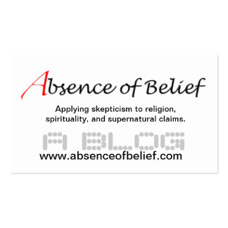Absence of Belief Business Card