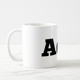 "Absence of Wax / ""AoW"" logo coffee mug"