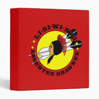 Absentee Shawnee Tribe Vinyl Binder