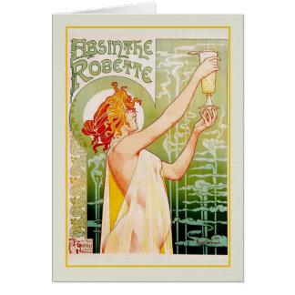 Absinthe advert card