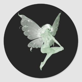 Absinthe Art Signature Green Fairy 1A Classic Round Sticker