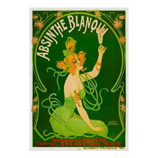 Absinthe Blanqui by Nover - 1901 Poster