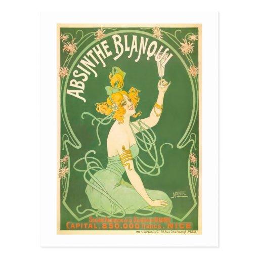 Absinthe Blanqui Nover Fine Art Postcard