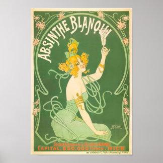 Absinthe Blanqui Vintage Absinthe Art Print