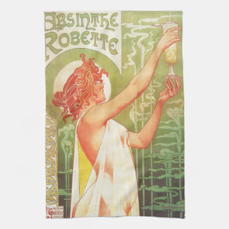 Absinthe Blanqui Vintage French poster advert Kitchen Towel