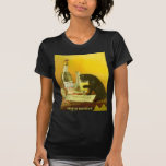 Absinthe Bourgeois and Cat Vintage Poster Art T Shirts