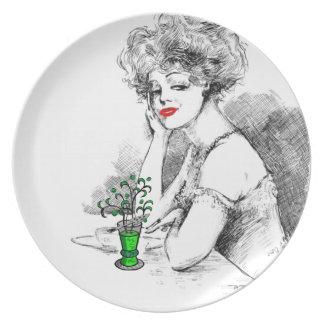 Absinthe Dinner Plate