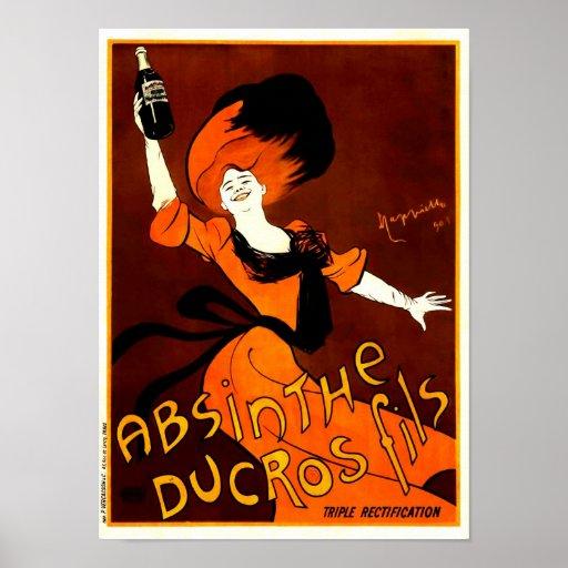 Absinthe Ducros Fils Vintage Absinthe Print