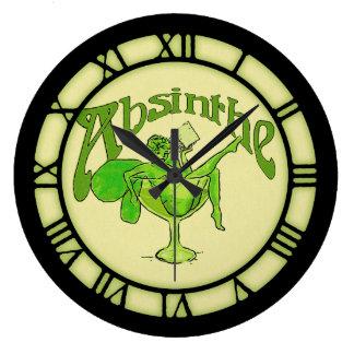 Absinthe Fairy In Glass Wall Clocks