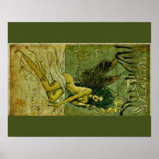 Absinthe Green Fairie Poster