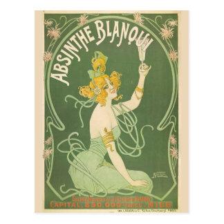 Absinthe Green Fairy Art Nouveau Postcard