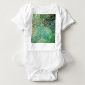 Absinthe Green Quartz Crystal Baby Bodysuit