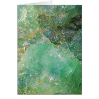 Absinthe Green Quartz Crystal Card
