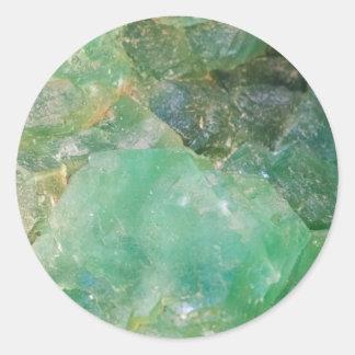 Absinthe Green Quartz Crystal Classic Round Sticker