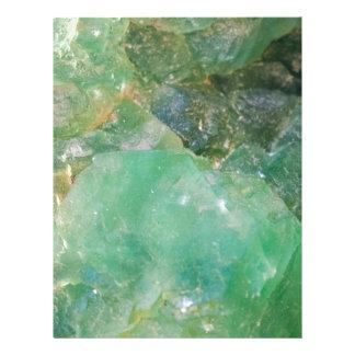 Absinthe Green Quartz Crystal Letterhead