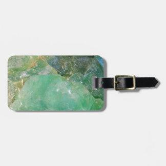 Absinthe Green Quartz Crystal Luggage Tag