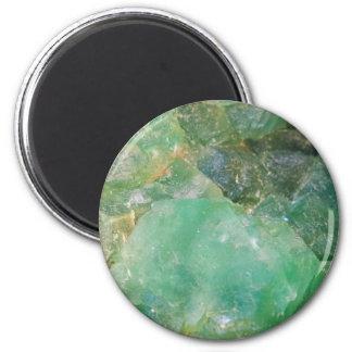 Absinthe Green Quartz Crystal Magnet