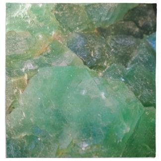 Absinthe Green Quartz Crystal Napkin
