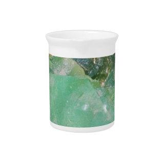 Absinthe Green Quartz Crystal Pitcher
