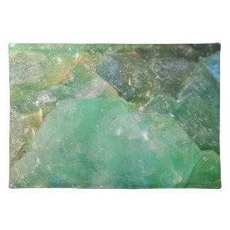 Absinthe Green Quartz Crystal Placemat