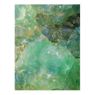 Absinthe Green Quartz Crystal Postcard