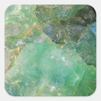 Absinthe Green Quartz Crystal Square Sticker