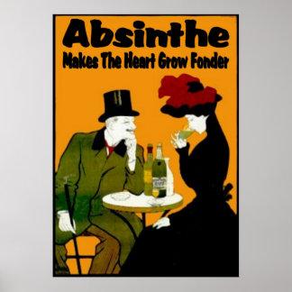 Absinthe MAkes The Heart Grow Fonder Poster