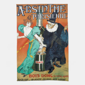 Absinthe Parisienne vintage French advertisement Hand Towels