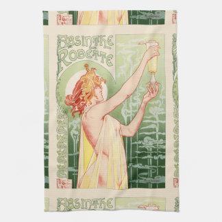 Absinthe Robette - Alcohol Vintage Poster Kitchen Towel