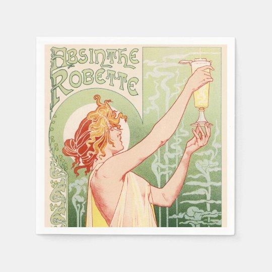 Absinthe Robette - Alcohol Vintage Poster Paper Napkins