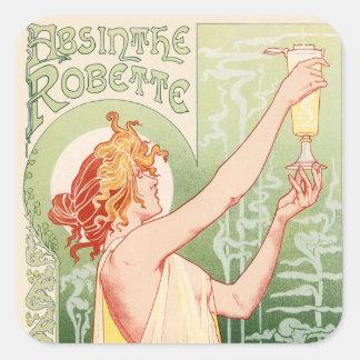 Absinthe Robette - Alcohol Vintage Poster Square Sticker