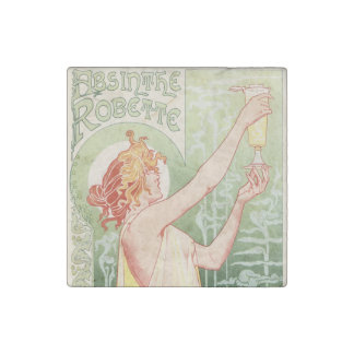 Absinthe Robette - Alcohol Vintage Poster Stone Magnets