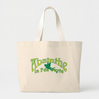 Absinthe Text La Fee Verte Large Tote Bag