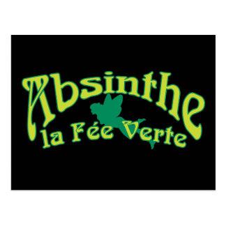 Absinthe Text La Fee Verte Postcard