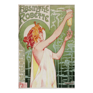 Absinthe Vintage 1900's Poster