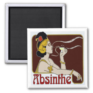 Absinthe, Woman Sipping Magnet