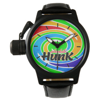 Absolute Hunk Rainbow Coloured Swirl Watch